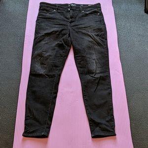 Lucky Brand Ava Super Skinny Faded Black Jeans